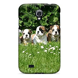 High-end Case Cover Protector For Galaxy S4(english Bulldog Puppes)