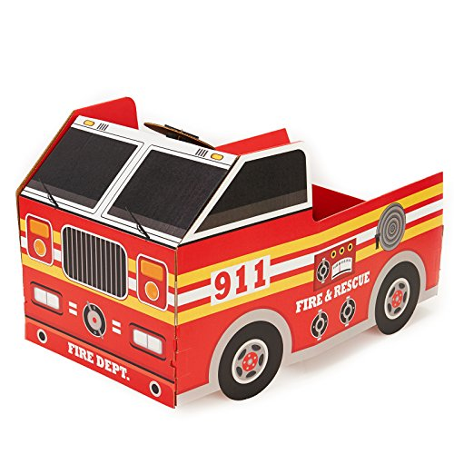 (Fireman Fire Engine Room Decorations - Fire Truck Cardboard Stand in Photo)