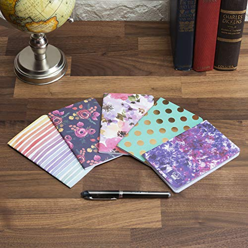 """Field Notebook - 3.5""""x5.5"""" - Assorted Patterns - Lined Memo Book - Pack of 5"""