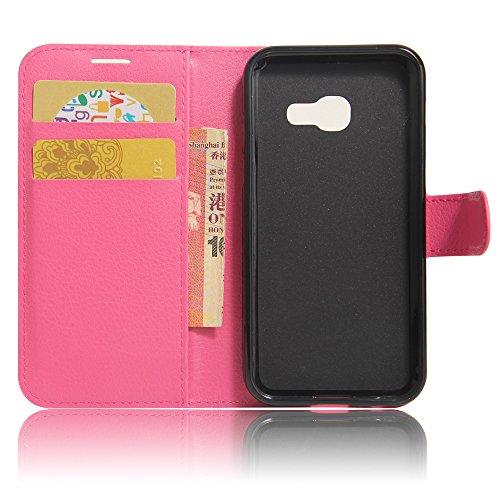 Funda Samsung Galaxy A3(2017),Manyip Caja del teléfono del cuero,Protector de Pantalla de Slim Case Estilo Billetera con Ranuras para Tarjetas, Soporte Plegable, Cierre Magnético(JFC8-9) D