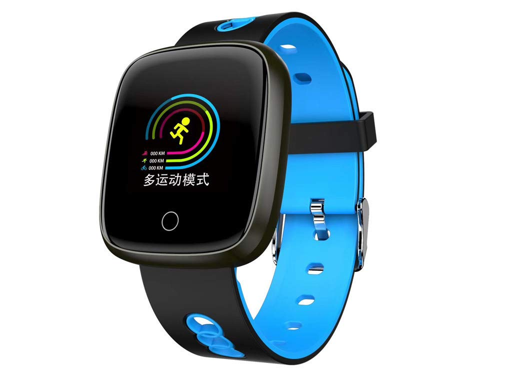 Larmly Fashion Smart Wristband Blood Pressure Heart Rate Monitor Bluetooth Fitness Watch Unisex(Blue) by Larmly
