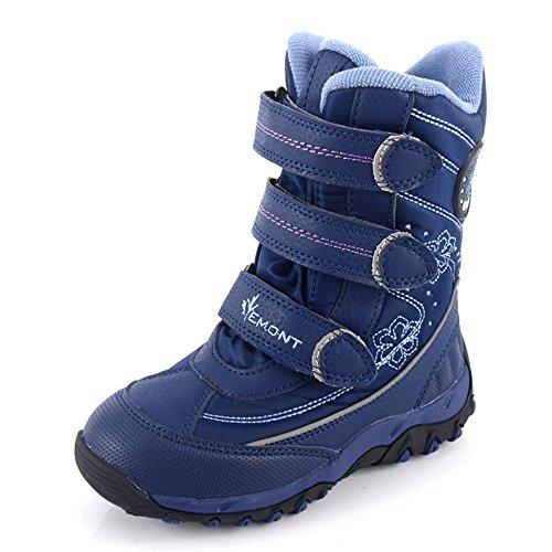 Schneeschuhe für Mädchen Klettband Vemont (2073) (28, Blau)