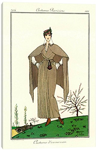 iCanvasART PCA318-1PC3-26x18 Costumes Parisiens of 1914, Women's Fashion, 26
