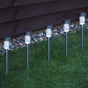 Babz faroles solares para jard n acero inoxidable 10 for Faroles solares para jardin