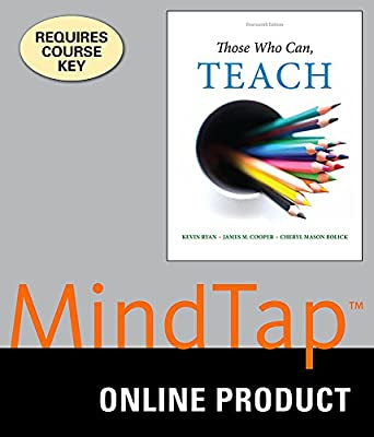 MindTap Education for Ryan/Cooper/Bolick's Those Who Can, Teach, 14th Edition