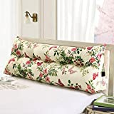 ZfgG Triangle Bedside Cushion Long Bolster Pillow Simple Support Cushion Single Double Bed Bedside Pad Soft Bag Pillow Sofa Bed Cushions Bed Backrest Reading Office Pillow Removable Bedding Accessorie