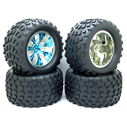 4x 1:10 Truck RC Car Buggy Tires Plastic 12mm Hub Wheel for sale  Delivered anywhere in USA