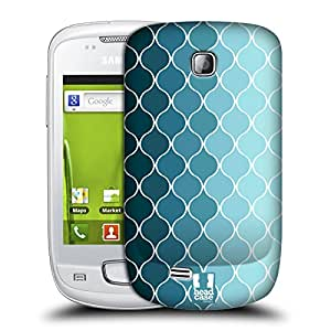 Head Case Designs Ombre Blue Ogee Patterns Hard Back Case Cover For Samsung Galaxy Mini S5570