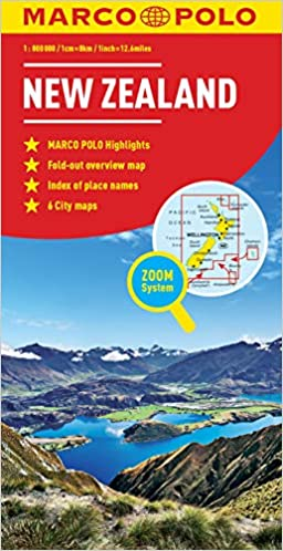 New Zealand Marco Polo Map