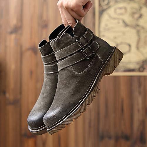 ZyuQ Herren Stiefel Martin Stiefel Herren Herbst Mode Herren Stiefel Retro High-Cut Werkzeug Stiefel Kurze Stiefel Herrenschuhe