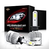 Automotive : Auxbeam LED Headlights F-S2 Series H1 headlight bulbs Bridgelux COB LED h1 headlight conversion kit with 2 Pcs of H1 Bulbs 72W 8000lm Single Beam - 1 Year Warranty