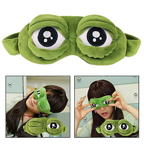 OFKP Creative 3D Frog Cute Eye Cover Sleep Mask Sleep Cartoon Blindfold Funny Green Gift