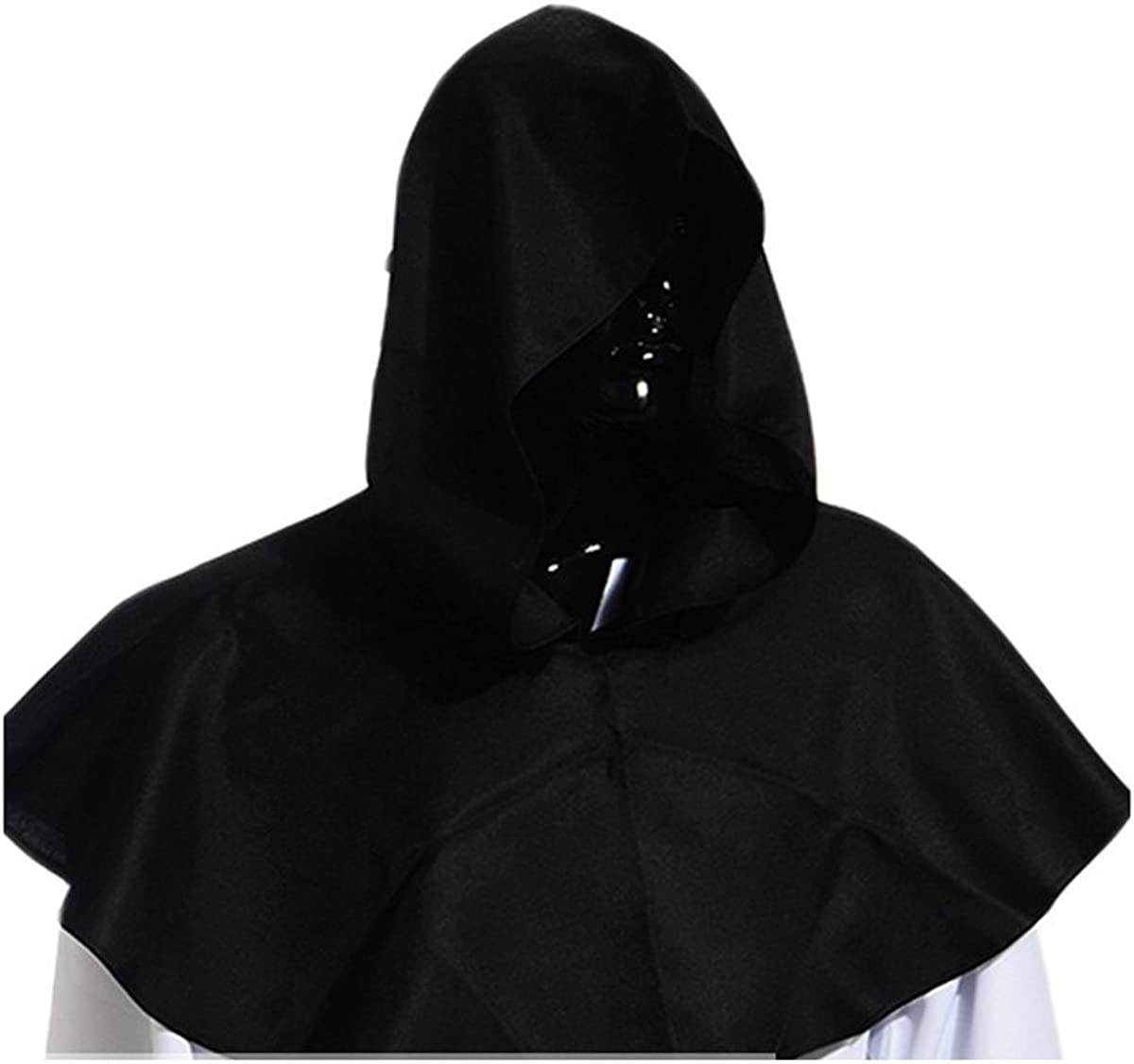 Vintage Medieval Cowl Hat Halloween Hooded Mantle Wicca Pagan Cosplay Accessory