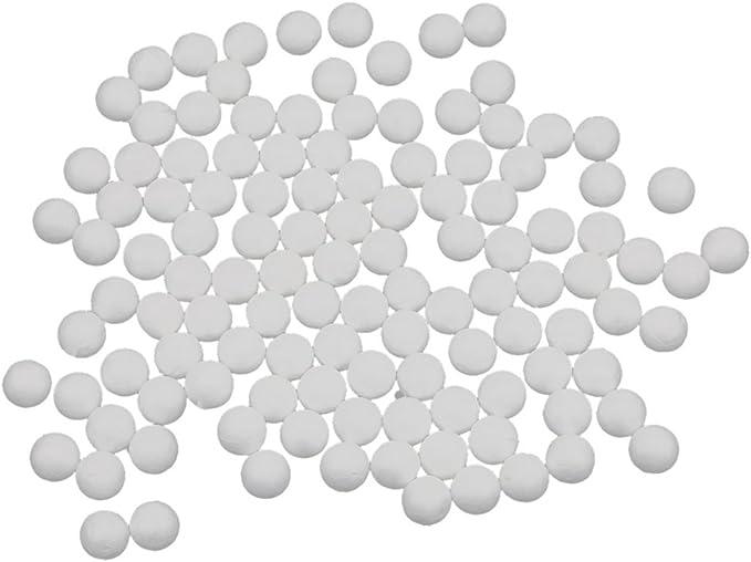 Baoblaze Lot de 100 Boules de Mousse en polystyr/ène pour travaux manuels et d/écorations de No/ël 15 mm