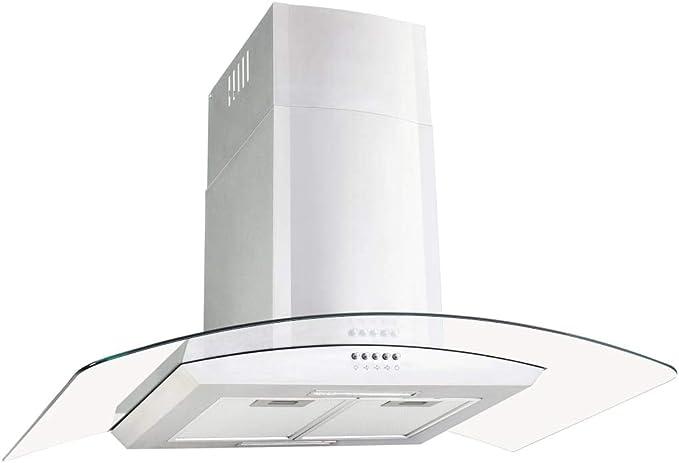 vidaXL Campana Extractora de Pared 90cm Acero Inoxidable 756m³/h LED Cocina: Amazon.es: Grandes electrodomésticos