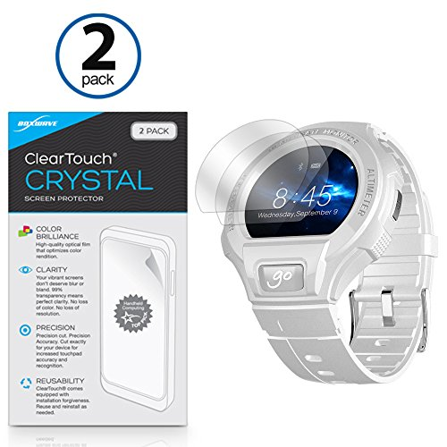 Alcatel OneTouch Go Watch Screen Protector, BoxWave [ClearTouch Crystal (2-Pack)] HD Film Skin - Shields From Scratches for Alcatel OneTouch Go Watch (Touch One Alcatel 0)