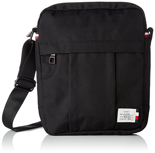 Tommy Hilfiger Mens Tommy Slim Reporter Laptop Bag Black (Black)