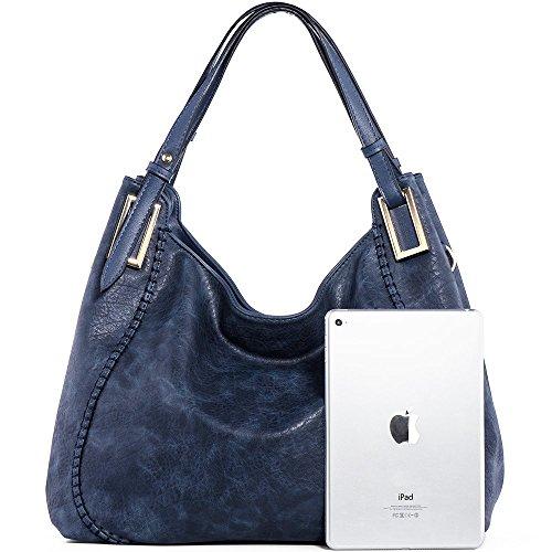 Shoulder Blue Purse Women Tote JOYSON Leather PU Handbags Handle Bags Bags Top Satchel zPqq7Ix