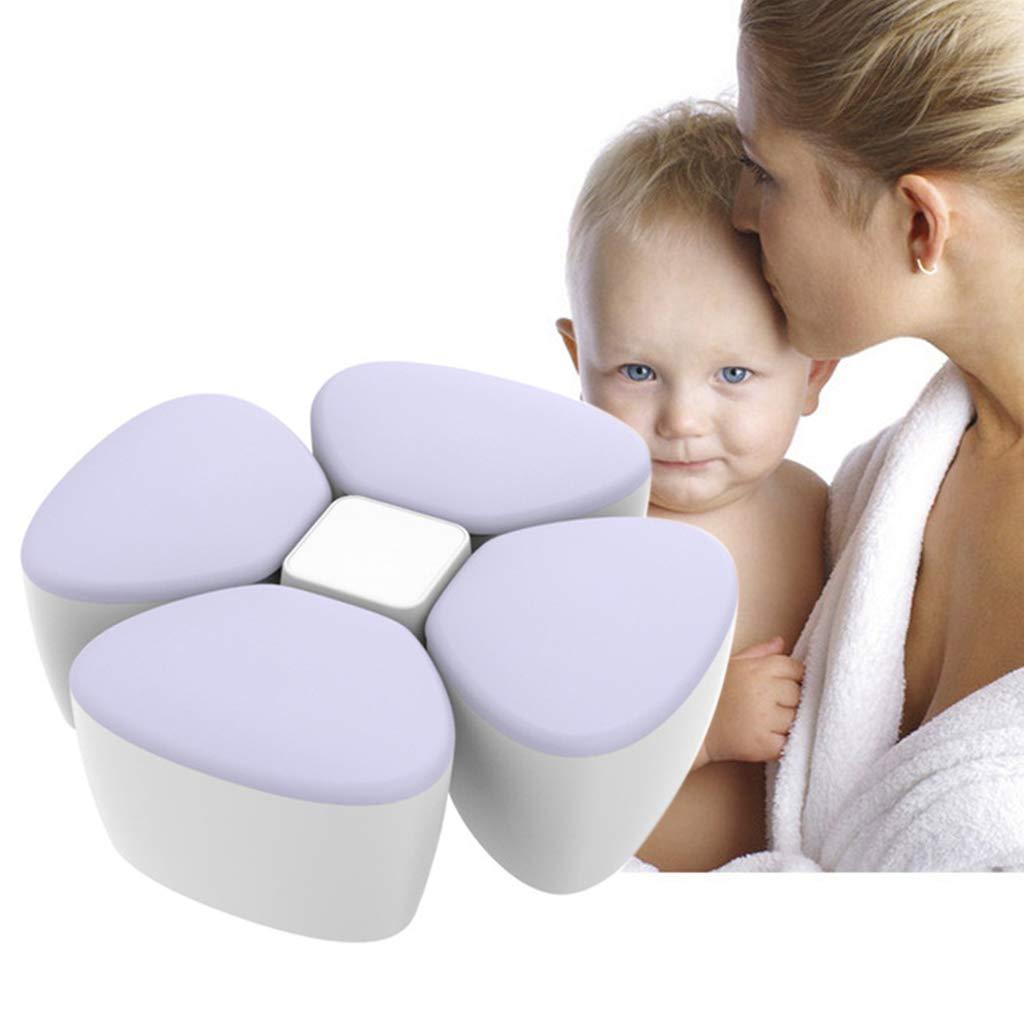 Sliversorrtery Baby Milk Powder Formula Dispenser Container Children Portable PP Case for Four-Trellis Storage Flower Shaped Sealed Feed Box