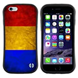 Graphic4You Vintage Romanian Flag of Romania Design Curved Shock-Proof Soft Rubber Anti-Slip Hybrid Gel Case Cover for Apple iPhone 6 Plus / 6S Plus