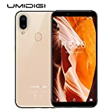 UMIDIGI Mobile A3 5.5' 16GB Unlocked Cell Phone Android 8.1-2GB Ram Triple Slot, 2 NanoSIMs+Micro-SD 12MP + 5MP Dual Camera Fingerprint ID 3300mAh Battery Smartphone(Gold)
