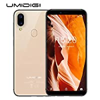 """UMIDIGI A3 Factory Unlocked Smartphone 5.5"""" FullView Display,Dual 4G LTE,2+1 SIM Card Slot,12MP + 5MP Dual-Lens Camera,2GB/16GB,Expandable Storage to 256G, Android 8.1 Cell Phones(Gold)"""