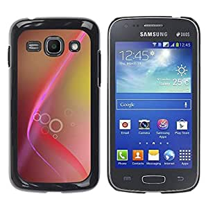Paccase / SLIM PC / Aliminium Casa Carcasa Funda Case Cover para - Pink Brown Lines Rings Yellow - Samsung Galaxy Ace 3 GT-S7270 GT-S7275 GT-S7272