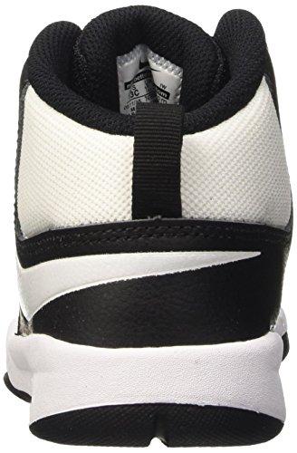 PS 7 Blanc Garçon de Team Hustle Noir Chaussures Sport Nike Basketball Blanc Blanc D black n4qInt