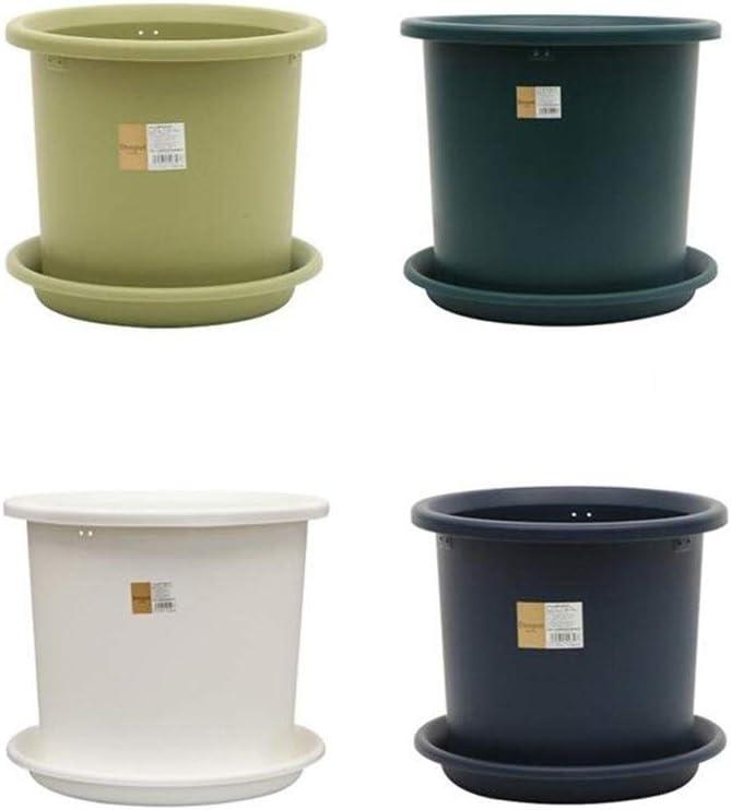 Maceta de Resina Maceta de plástico de galón 2L / 3L / 5 / L / 8L / 12L / 15L Adecuado for Plantas Grandes y Medianas Duradero y Hermoso (Color : White, Size : 2L)