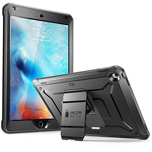 SUPCASE New iPad 9.7 2017 case, [Heavy Duty] [Unicorn Beetle PRO Series] Full-body Rugged Protective Case with Built-in Screen Protector & Dual Layer Design for Apple iPad 9.7 inch 2017 (Black/Black)