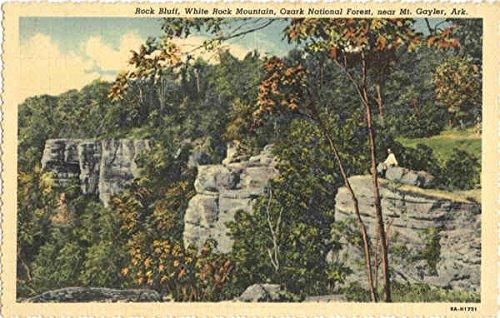 Rock Bluff, Ozark National Forest Mt. Gayler, Arkansas Original Vintage Postcard