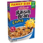 Kellogg's Raisin Bran Crunch Breakfast Cereal, Family Size, 24.8 Ounce Box