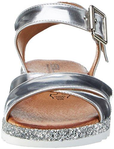 Mujer Pulsera Plateado Con 194 Black Sandalia 282 Para silver wqzI70Yx