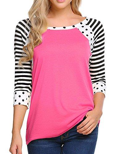 Womens 3/4 Length Sleeve T-shirt - 8