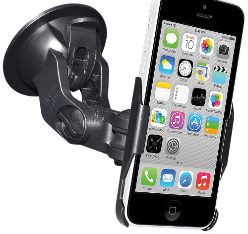 Amzer Suction Windshield/Dashboard Cup Mount Holder for iPhone 5C - Retail Packaging - (Amzer Suction Cup)