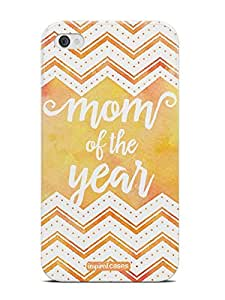 Inspired Cases 3D Textured Mom of the Year - Yellow Orange Case for iPhone 4 & 4s