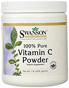 Swanson 100% Pure Vitamin C Powder 1 lb (454 grams) Pwdr
