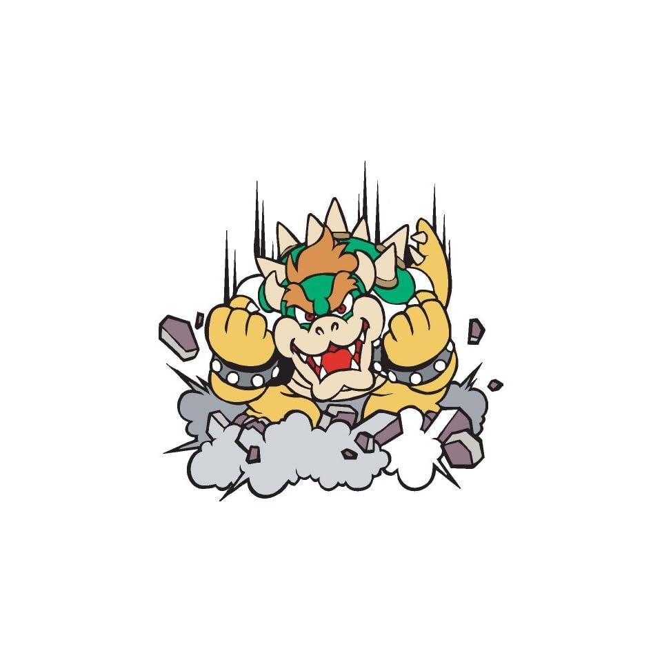 Bowser from Super Mario Bros sticker vinyl decal 5 x 5