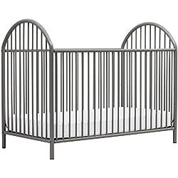 Novogratz Prism Metal Crib, Grey