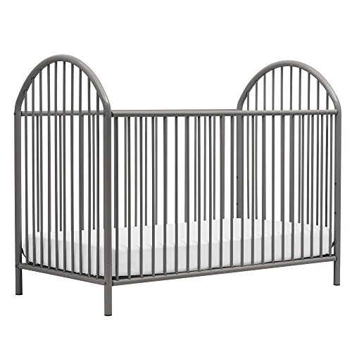 Novogratz Prism Metal Crib, Grey