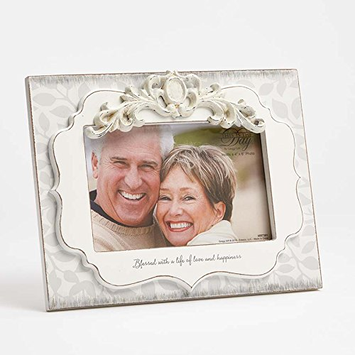 - Enesco This is the Day by Gregg Gift 40th Anniversary Scroll Detail Whitewash Photo Frame, 4x6