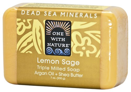 One With Nature Dead Sea Minerals Soap - 7 Ounce Bar - Lemon Sage - 6 Pack by One With Nature