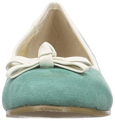Andrea Conti Women's 1327401 Ballet Flats Blue (Mint 043) FWCNOX2y