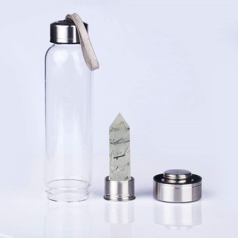 550 Ml Botella Agua De Vidrio Gema Reutilizable Botella De Agua De ...