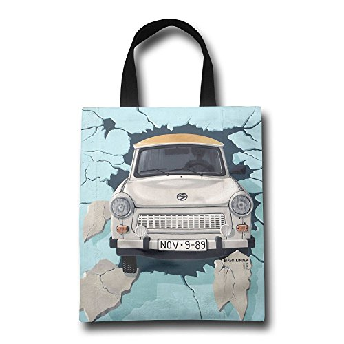 Besioo Shopping Bags Berlin March The Painting From Birgit Kinder Of The Trabant In The East Side Gallery The Durable Foldable Shopping (Gallery Lunch Tote)