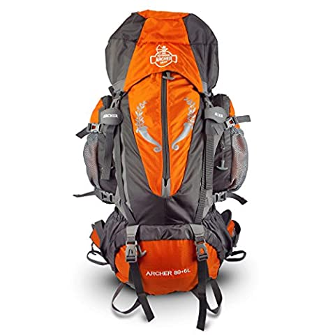 Archer Outdoor Gear Alpine Waterproof Hiking Internal Frame Backpack, 80+5 L - Internal Stop
