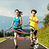 Hands Free Dog Leash Belt 5.2-8.4 Feet Adjustable Dog Leash Dual Elastic Bungee Belt with Reflective Bands and Adjustable Waist Belt Perfect for Walking Running Hiking and Biking