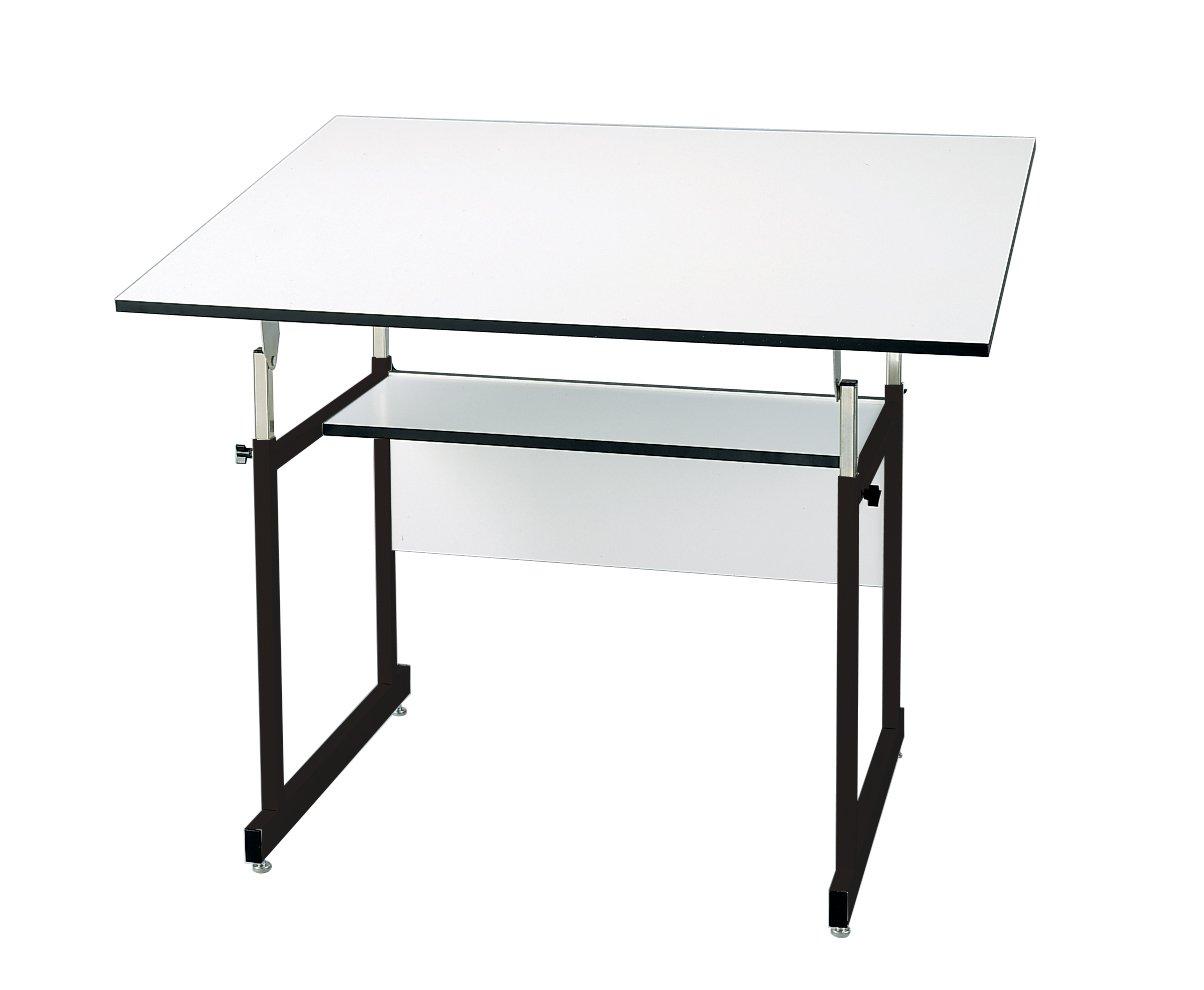 Alvin WMJ48-3-XB WorkMaster Jr. Table, Black Base White Top (36