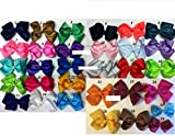 Pic 20 Pcs 5.5'' Girls Baby Toddler Kids Large Hair Bow Clip Boutique Us Seller
