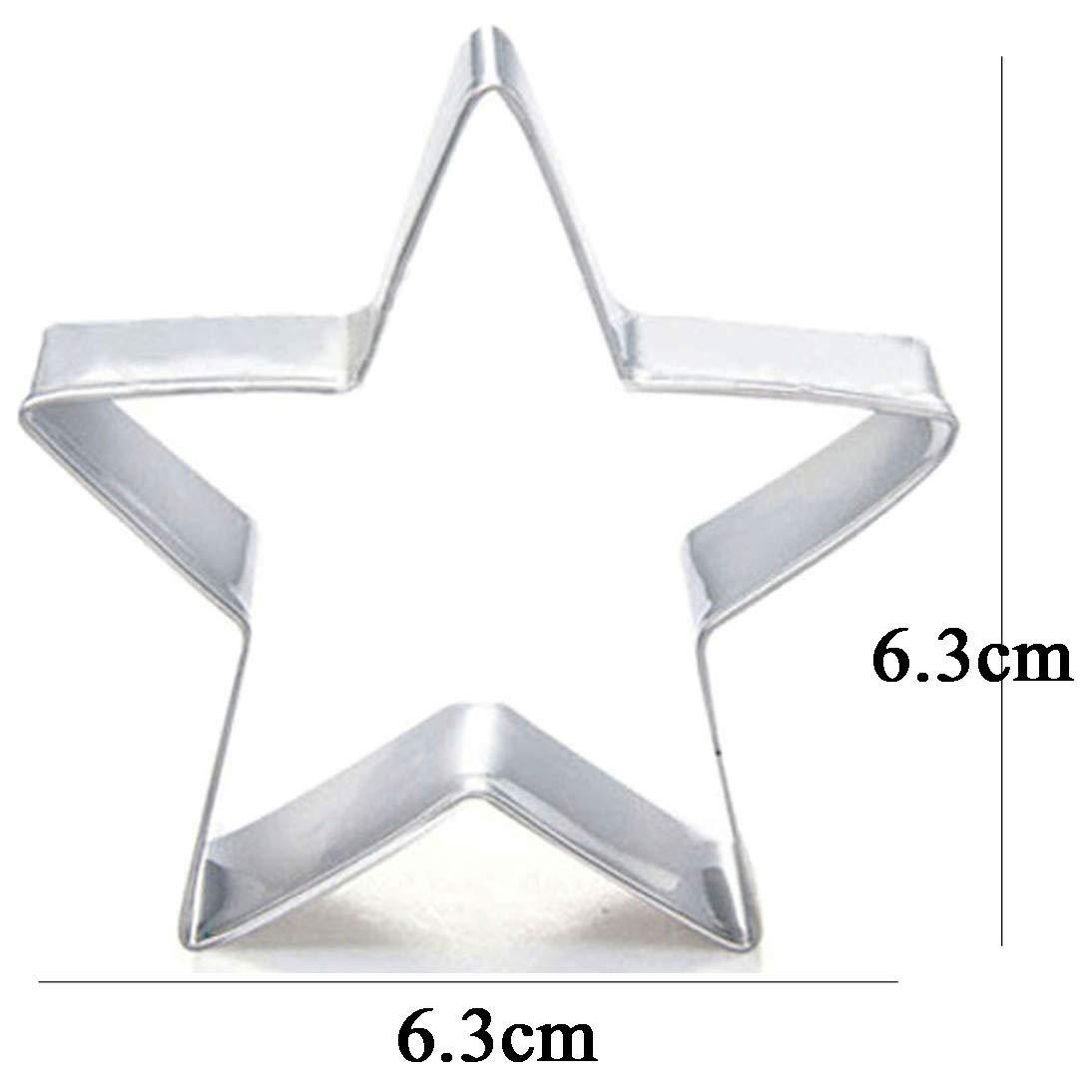 WDYJMALL Stampo per biscotti a forma di stella a pentagramma